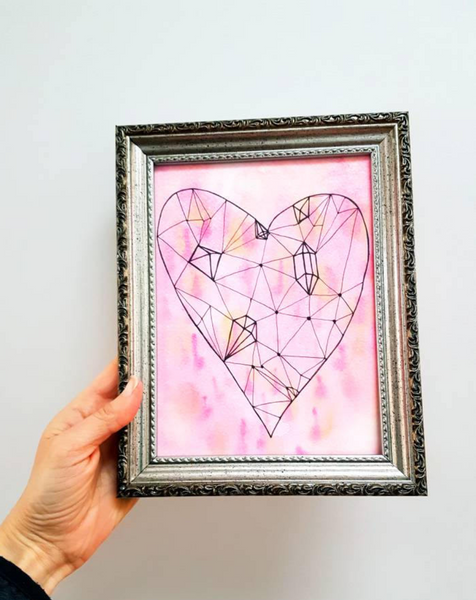 'Jewelled Heart' wall art print