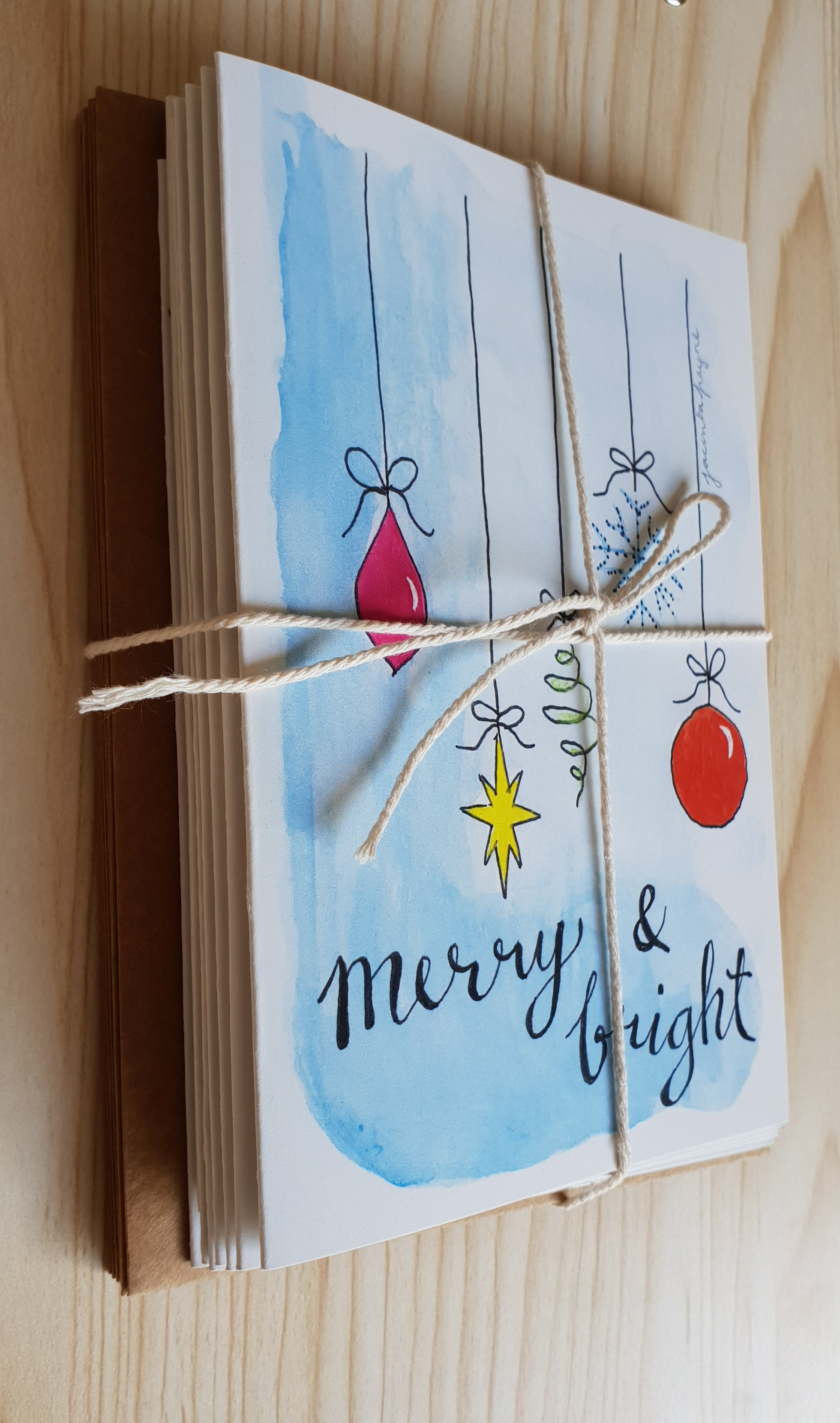 Christmas cards pack of 8 assorted Minnie&Lou designs in A6 size including envelopes