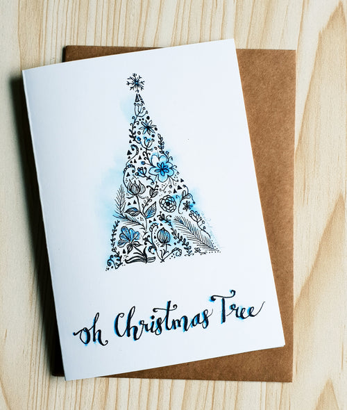 Oh Christmas Tree card by Minnie&Lou