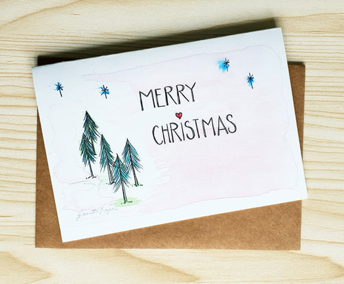 Merry Christmas 'Fir Tree' card by Minnie&Lou