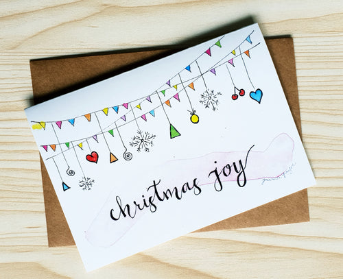 Christmas Joy card by Minnie&Lou