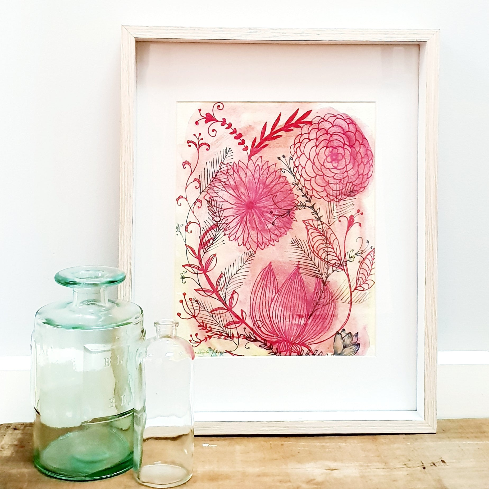 'Springtime Joy No. 3' Modern Floral Wall Art Print
