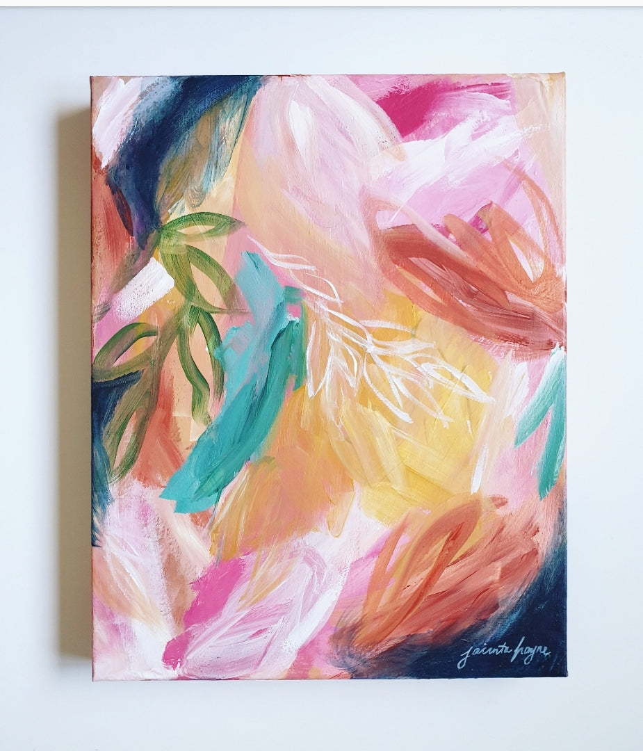 Colourful abstract art by Melbourne artist Jacinta Payne