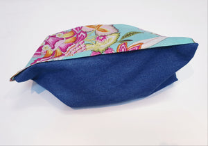 Eco friendly wheat bag made with upcycled fabric - Aqua floral Print