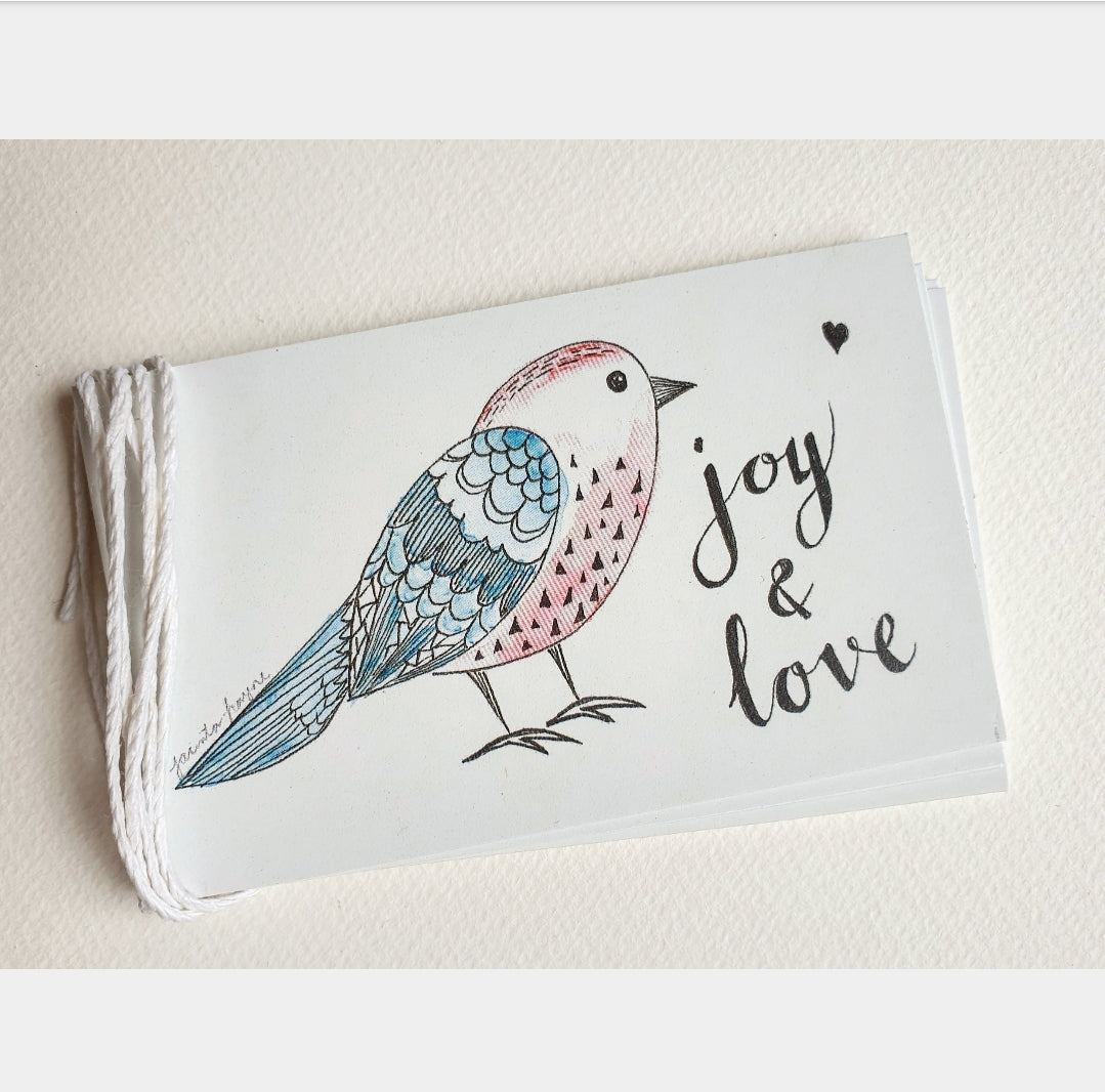 Cute Birdy Christmas Gift Tag Set of 5
