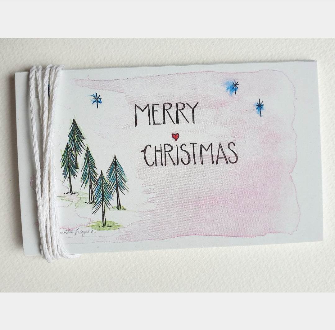 Christmas Fir Tree Gift Tags Set of 5