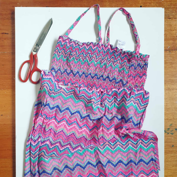 Eco friendly wheat bag made with upcycled fabric - pink n purple