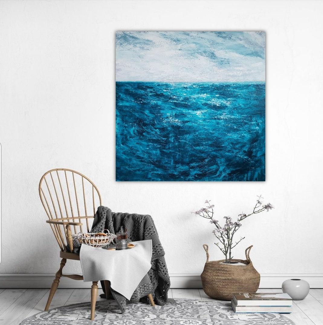 Abstract seascape by Melbourne artist Jacinta Payne