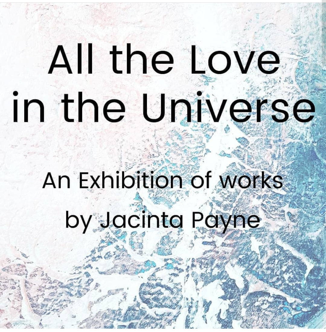 'All the Love in the Universe' abstract painting on canvas by Jacinta Payne
