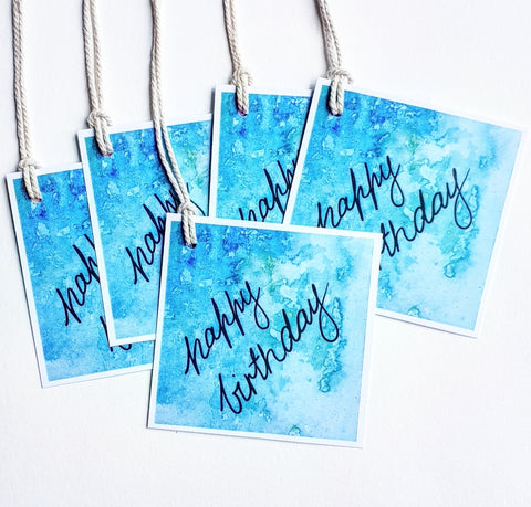 Happy Birthday gift tags 5 pack