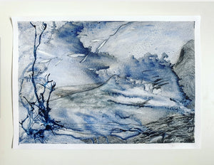 Monochrome series abstract landscape art by Jacinta Payne Melbourne Australian Artist