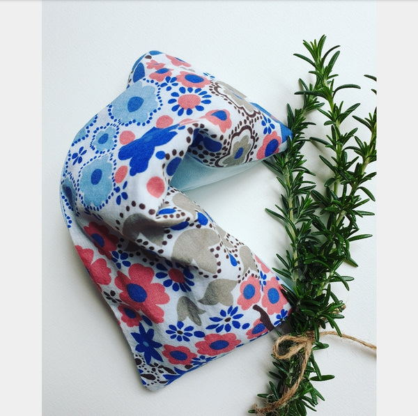 Eco friendly wheat bag made with upcycled fabric - Flower Print