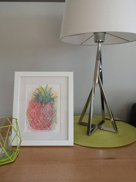 Living Room Styling at the Melbourne home of Minnie&Lou, with Pineapple Pop art print
