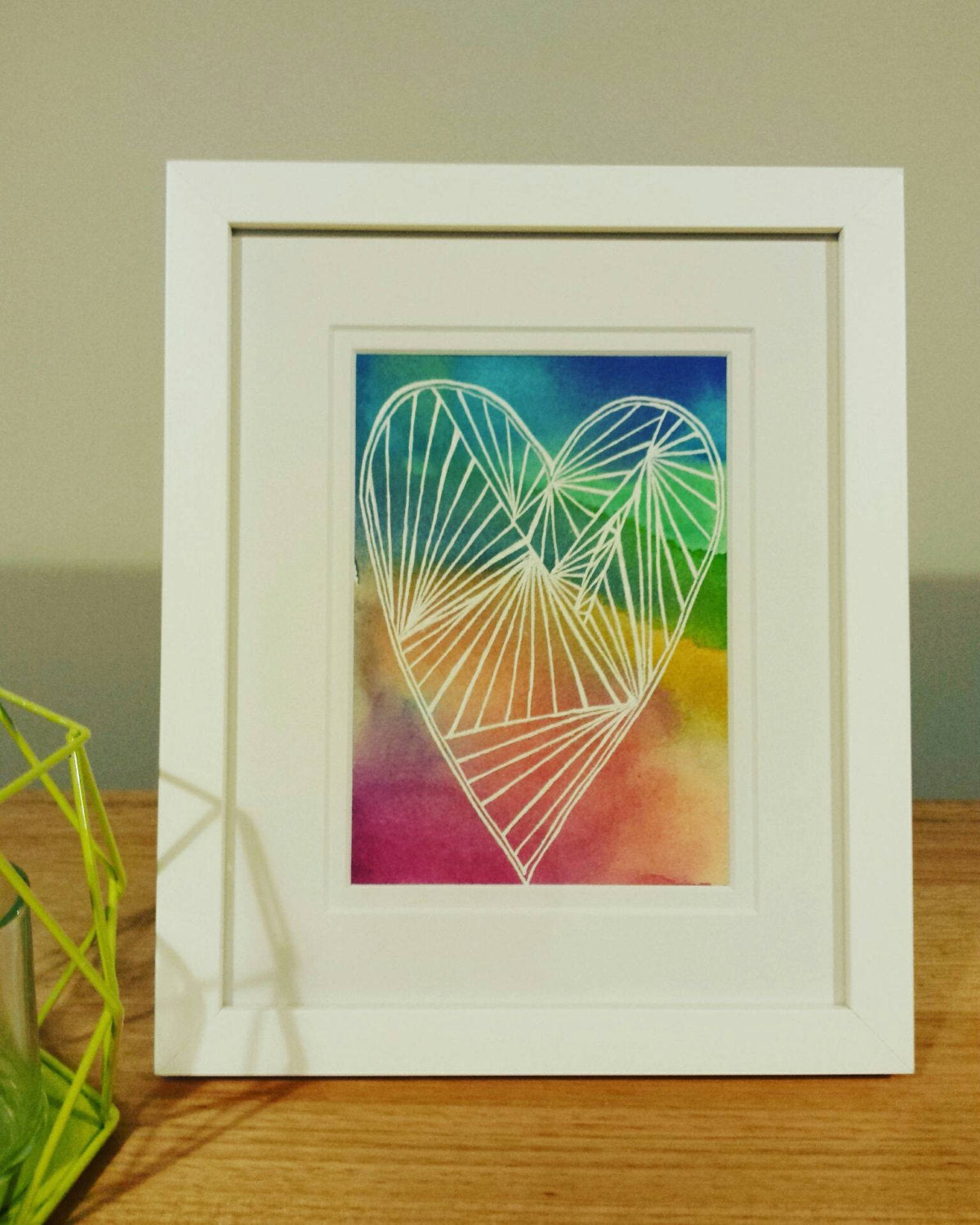 Rainbow Heart Home Decor Art Print