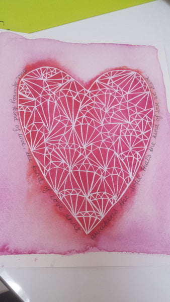 'That Sparkly Love' Geometric patterned heart print