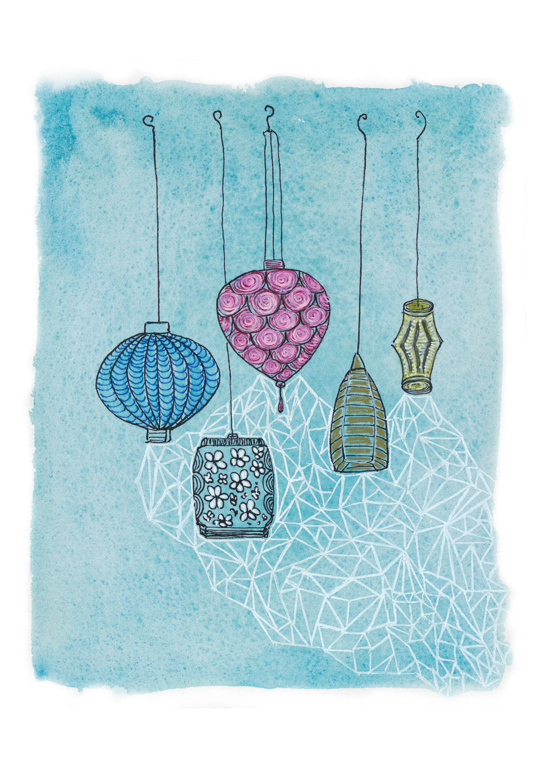 Lanterns art print by Minnie&Lou