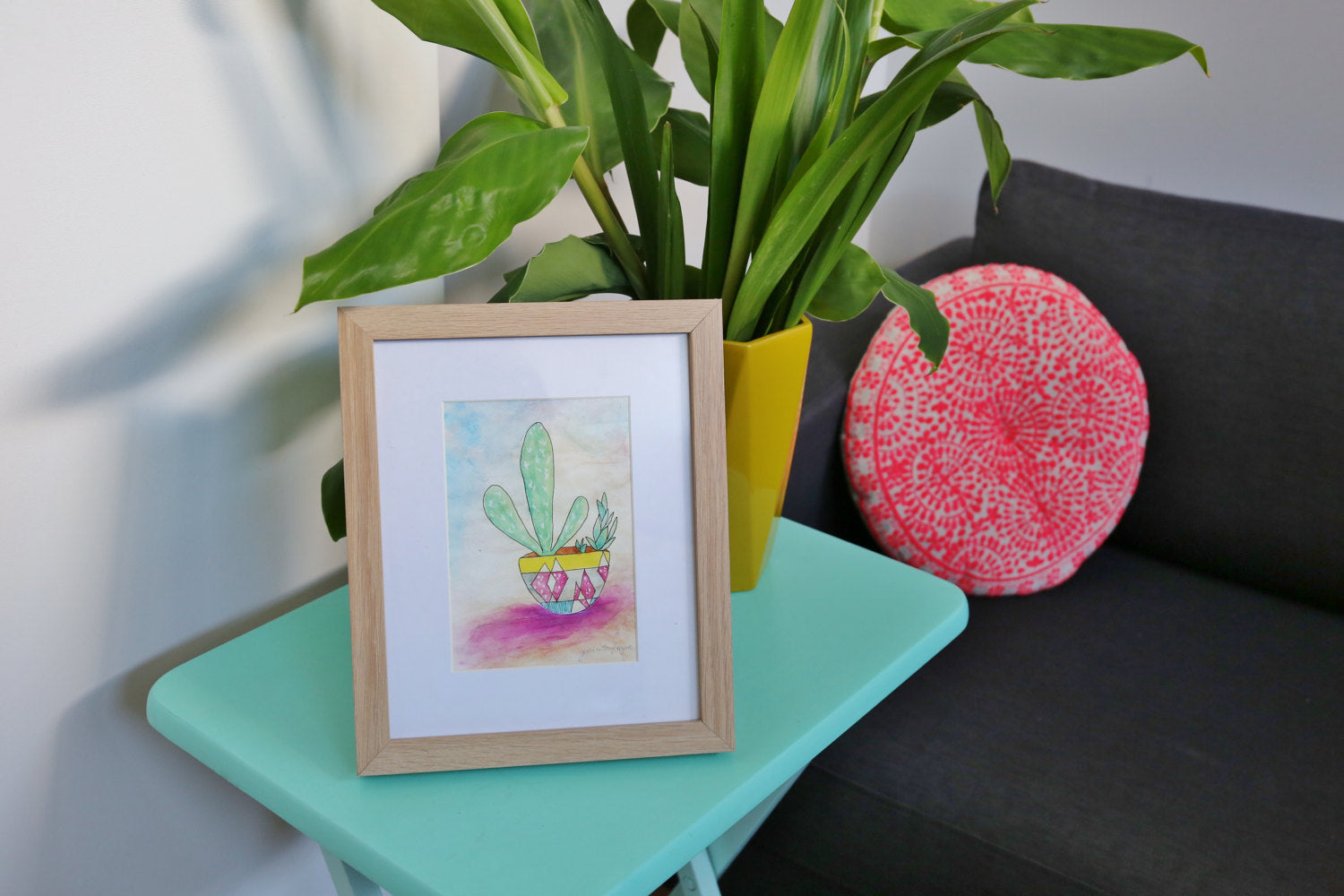 'Cute Cactus No. 1' archival art print
