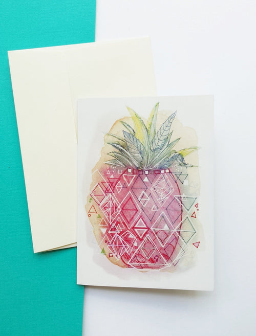 'Pineapple Pop' any occasion greeting card