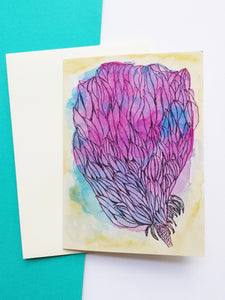 Fairy Floss Posy any occasion greeting card by Minnie&Lou