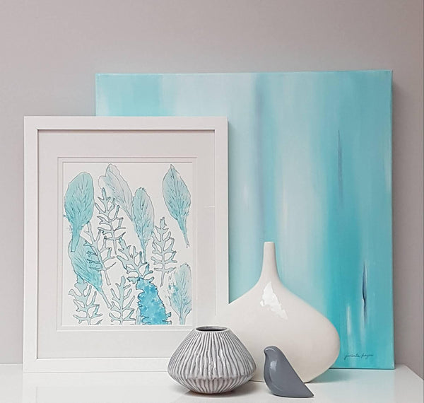 Office styling with Minnie&Lou Art Prints Melbourne Australia
