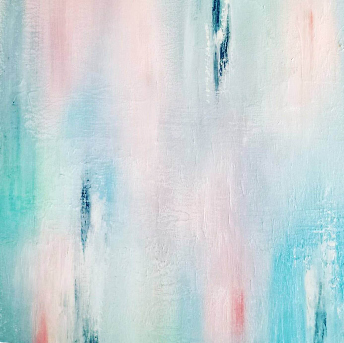 Art for your walls: textured abstract art work in pastel colours by Jacinta Payne, Abstract painting on canvas, pastel colour palette, modern art, Jacinta Payne Art, Abstract art Warrandyte