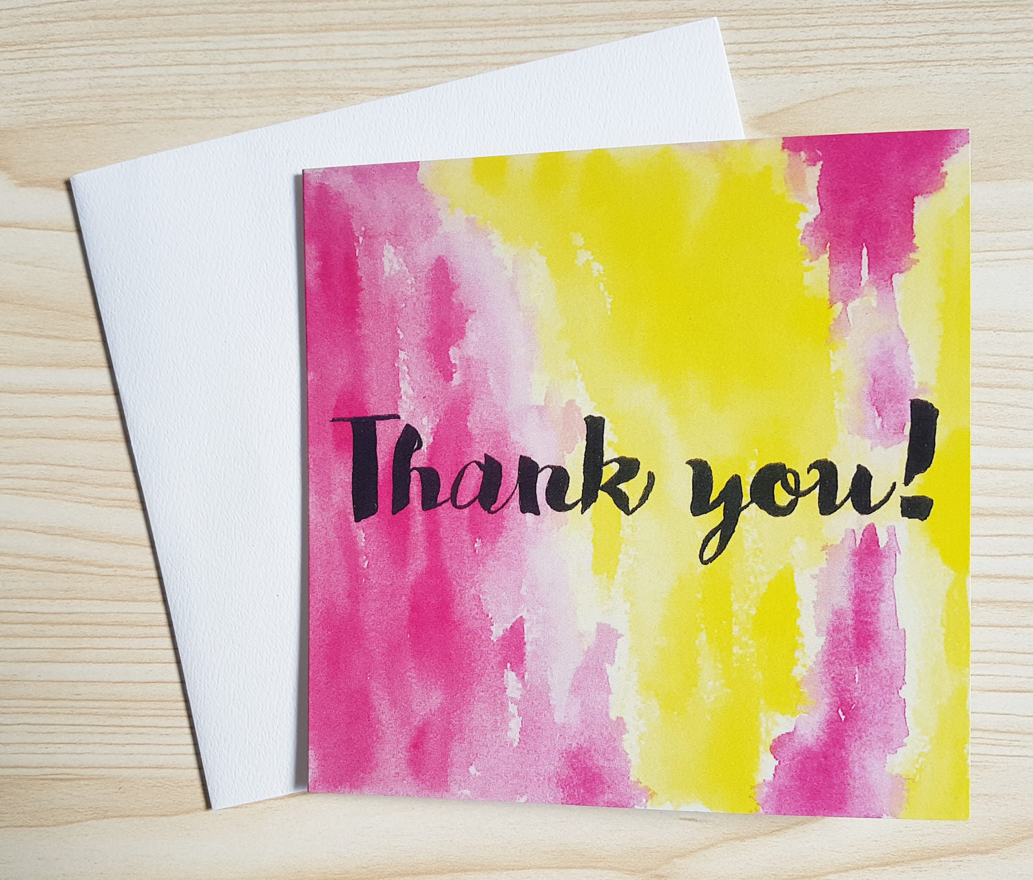 Thank you card, 100 percent recycled card stock, made and printed in Melbourne Australia. Minnie&Lou card collection