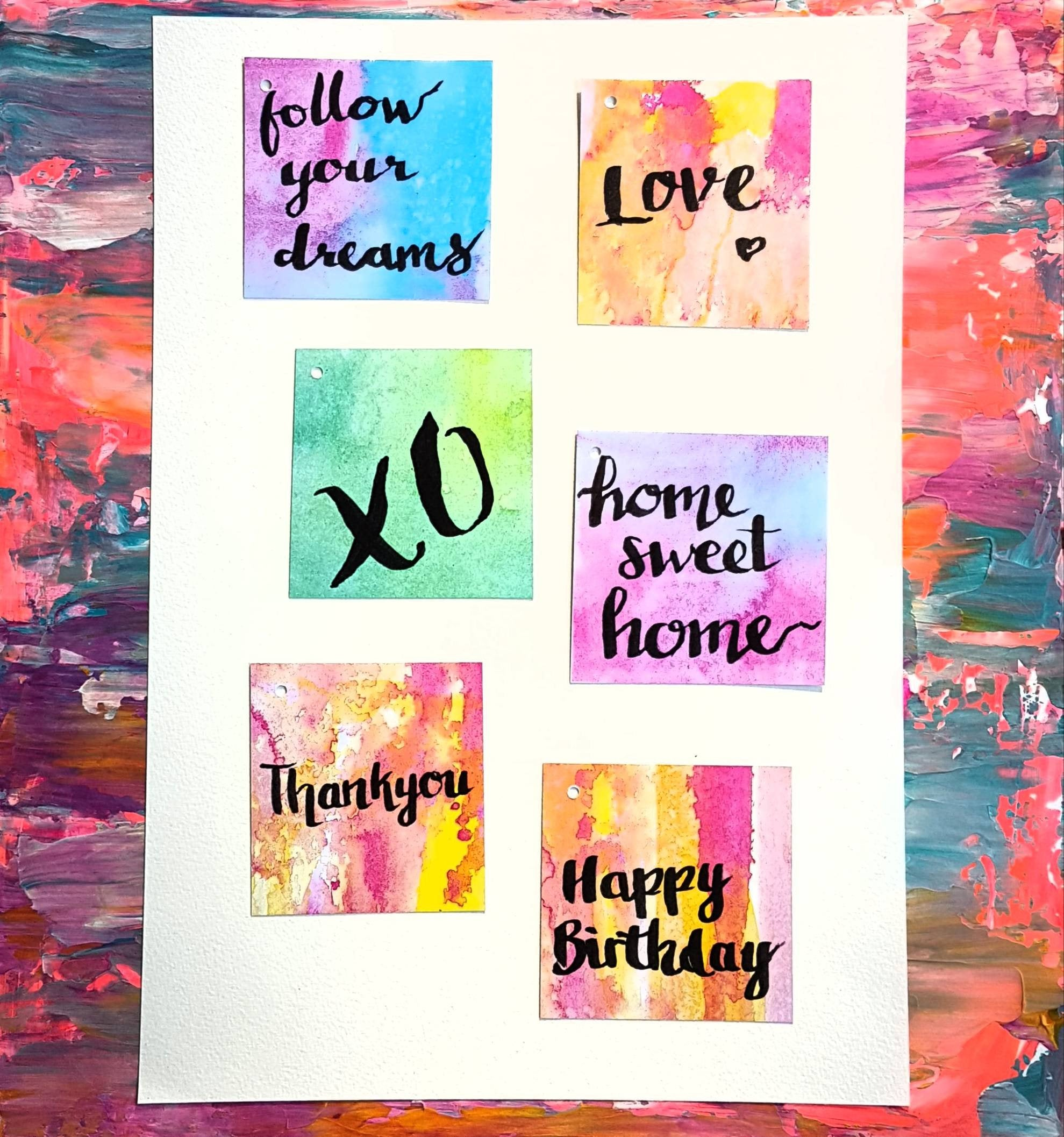 Funky and bright gift card collection for any occasion by Minnie and Lou