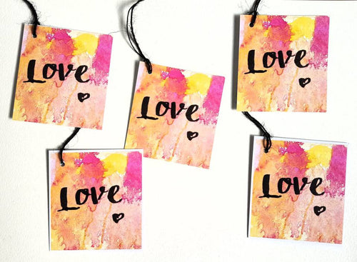 """Love"" gift tag set, Perfect for bridesmaid gifts or to celebrate the loved ones in your life!"