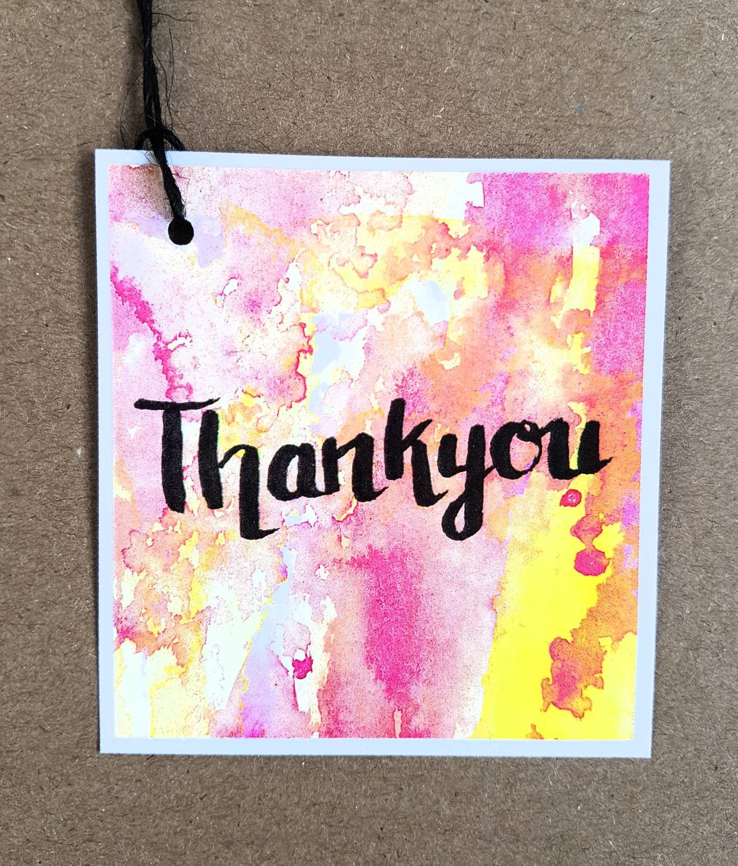 Thank you gift tags made in Melbourne from the original watercolour and ink creations of Jacinta Payne for Minnie&Lou