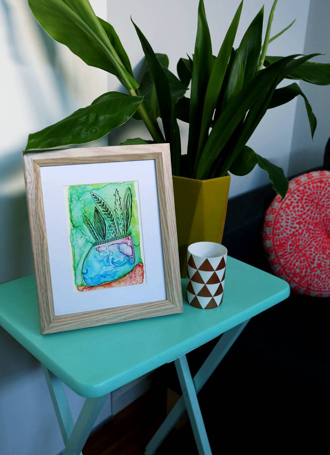 Succulent Art Print in Frame, Online Art Prints Melbourne