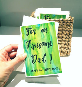 fathers Day cards, Made in Melbourne Australia, printed from the hand made, hand painted design of Jacinta Payne for Minnie&Lou