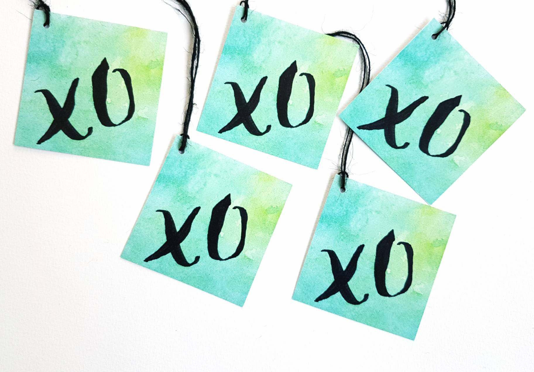 XO gift tags, love gift tags