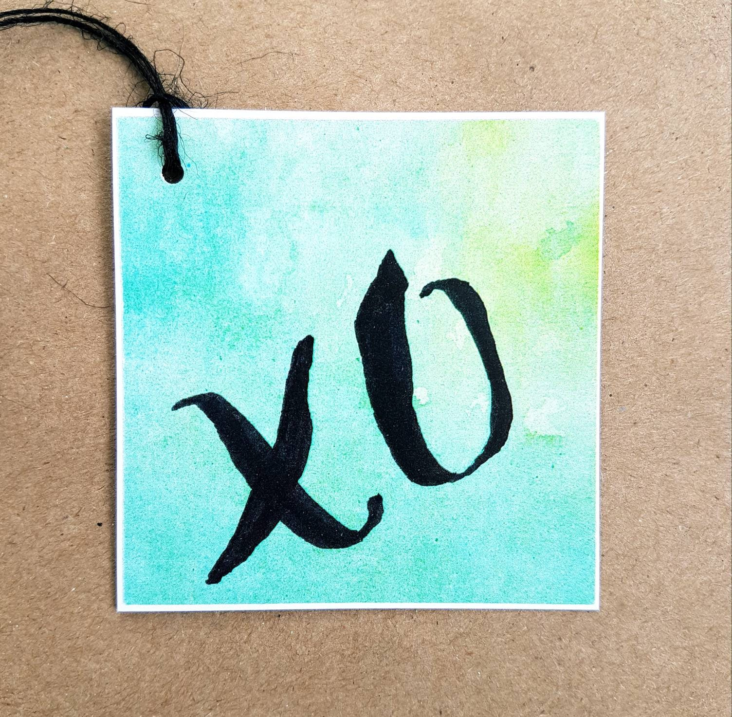 Valentines gift tags , xo gift tags featuring modern calligraphy / brush lettering