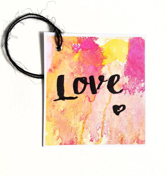 Love gift tag - perfect for valentines day or to celebrate the loved one in your life