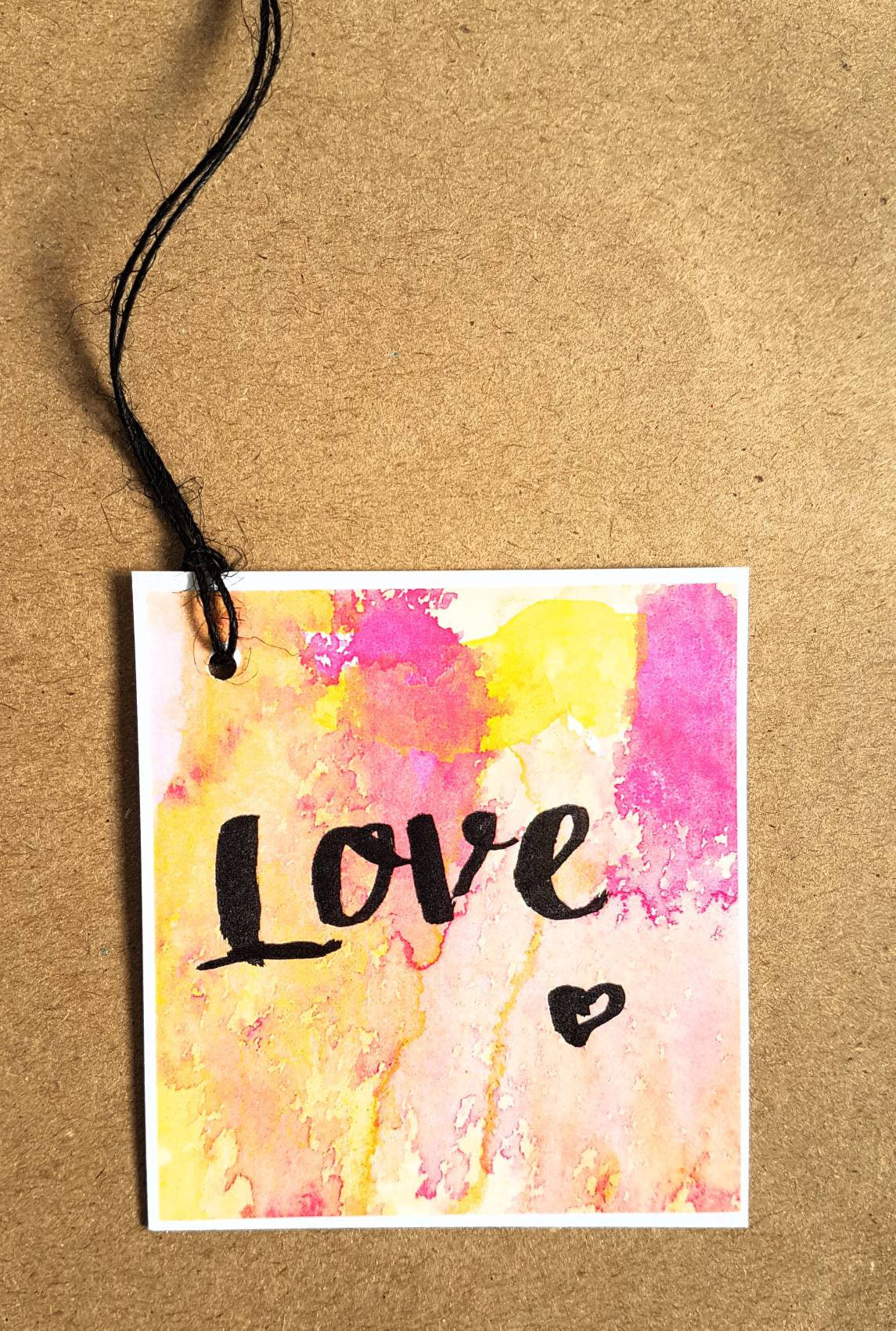 Love gift tag to pretty up your gift wrapping! Made in Melbourne Australia