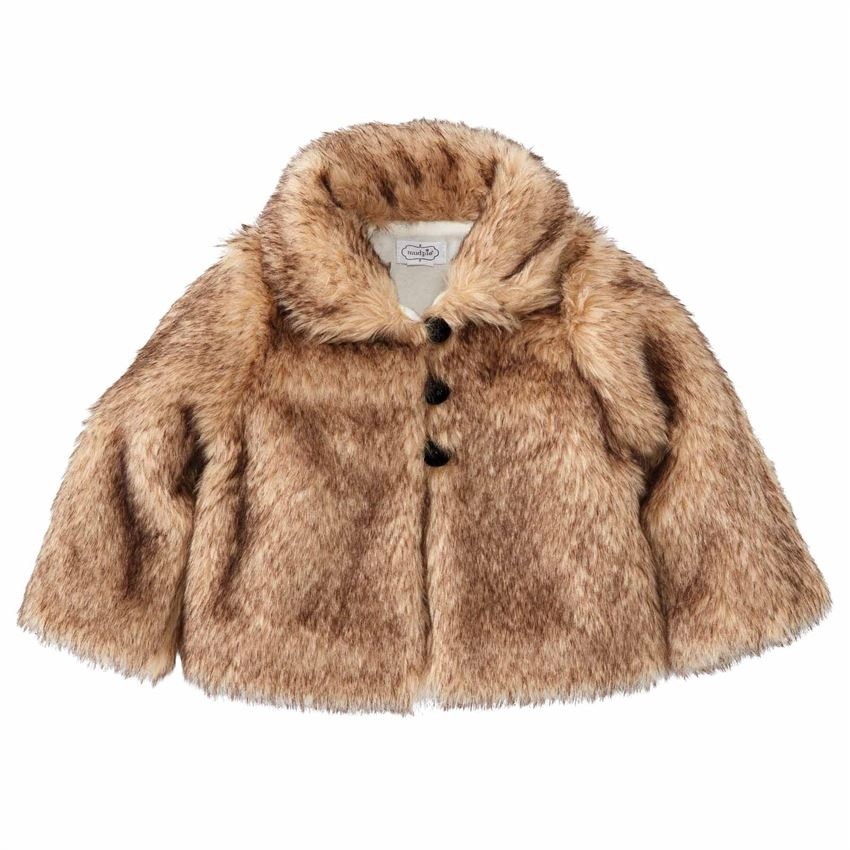 Little Girls Fur Jacket