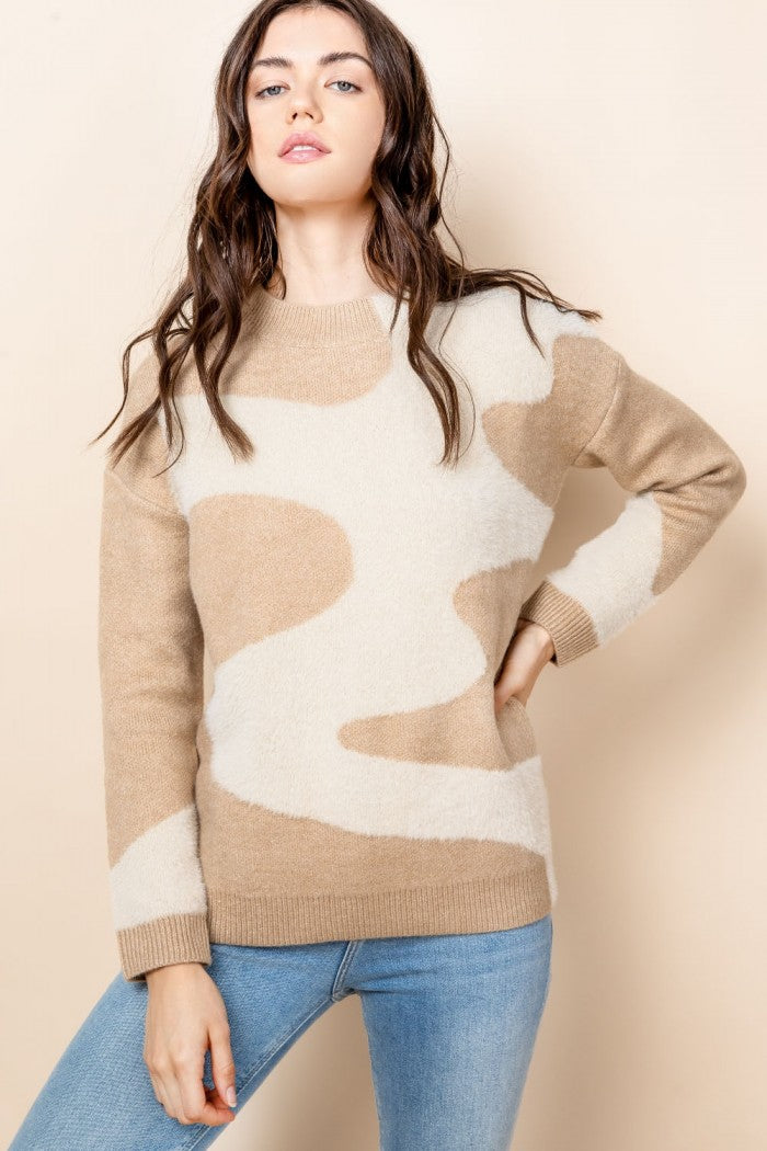 Knit Pattern Sweater