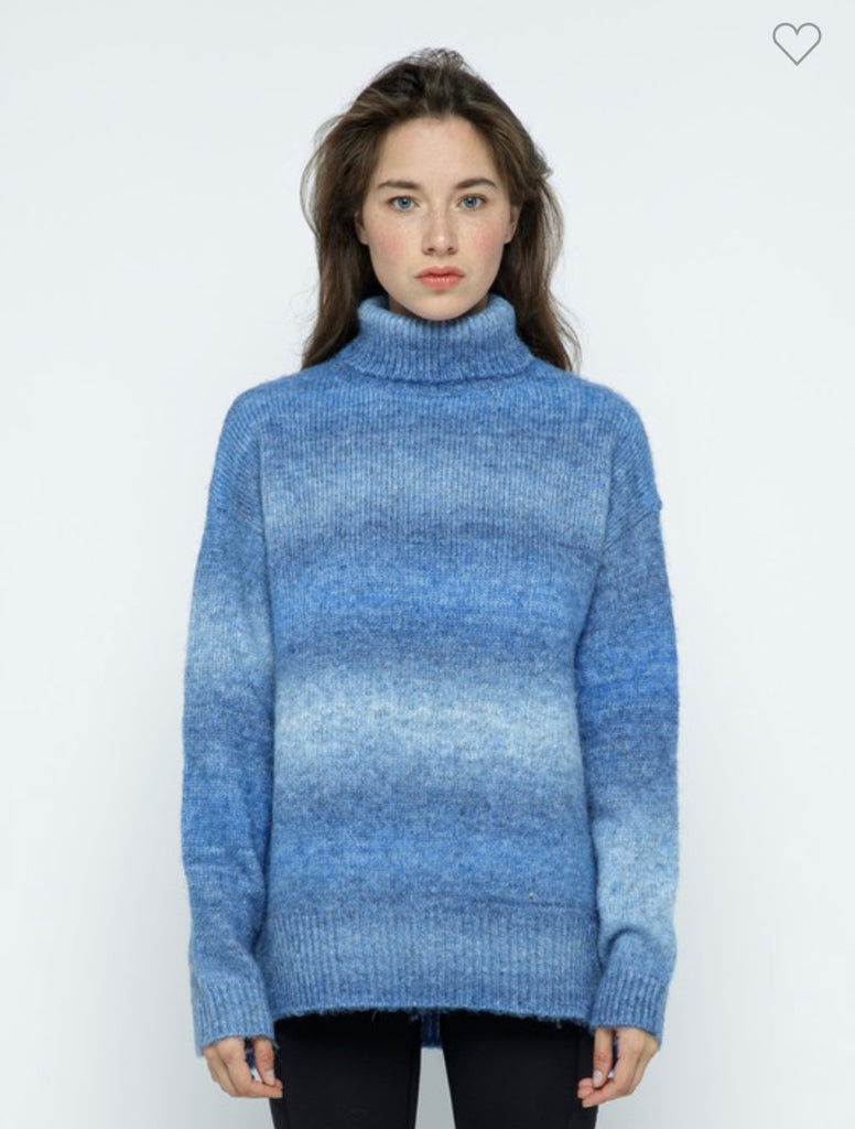 Turtleneck Ombre Sweater