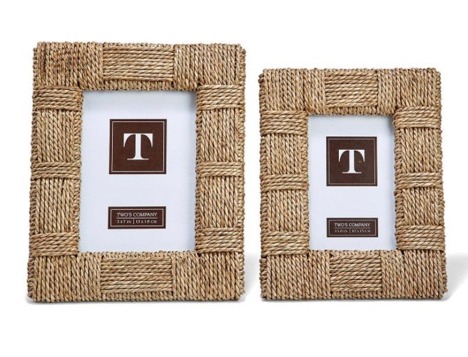 Copy of Twos company seagrass raffia frame (5x7)