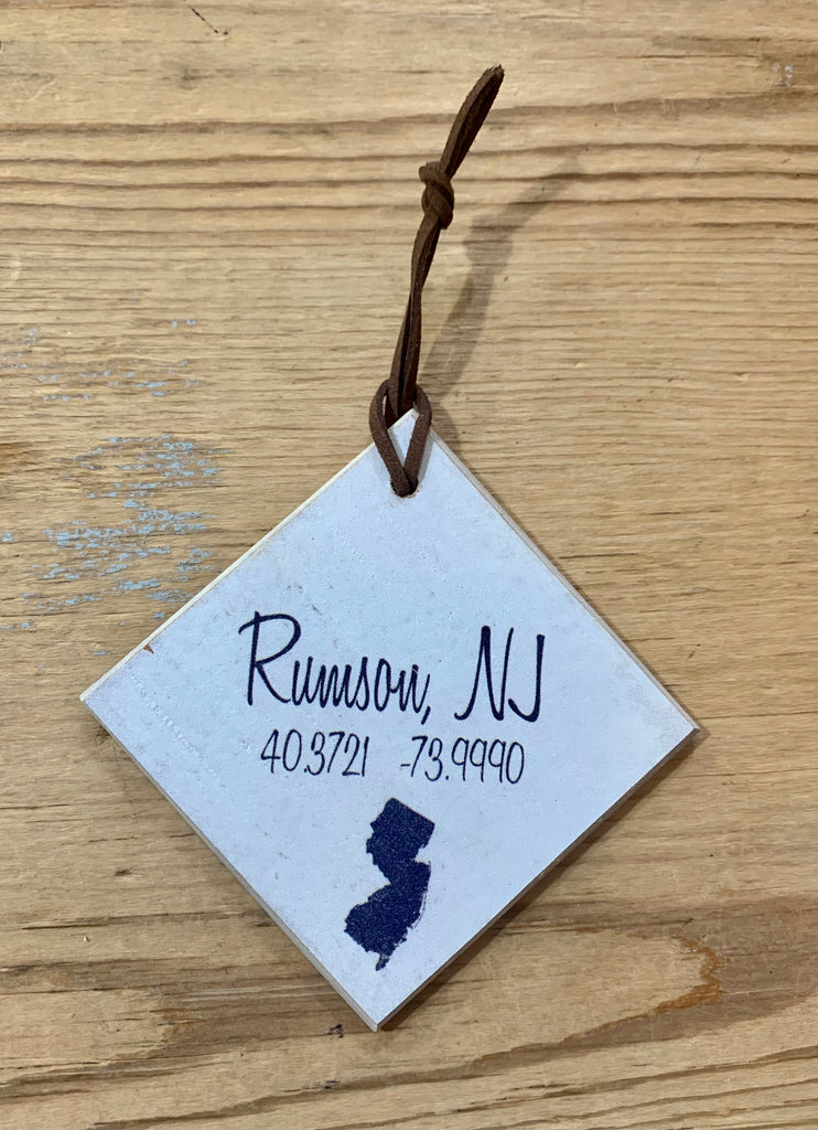 NJ with Town Ornament
