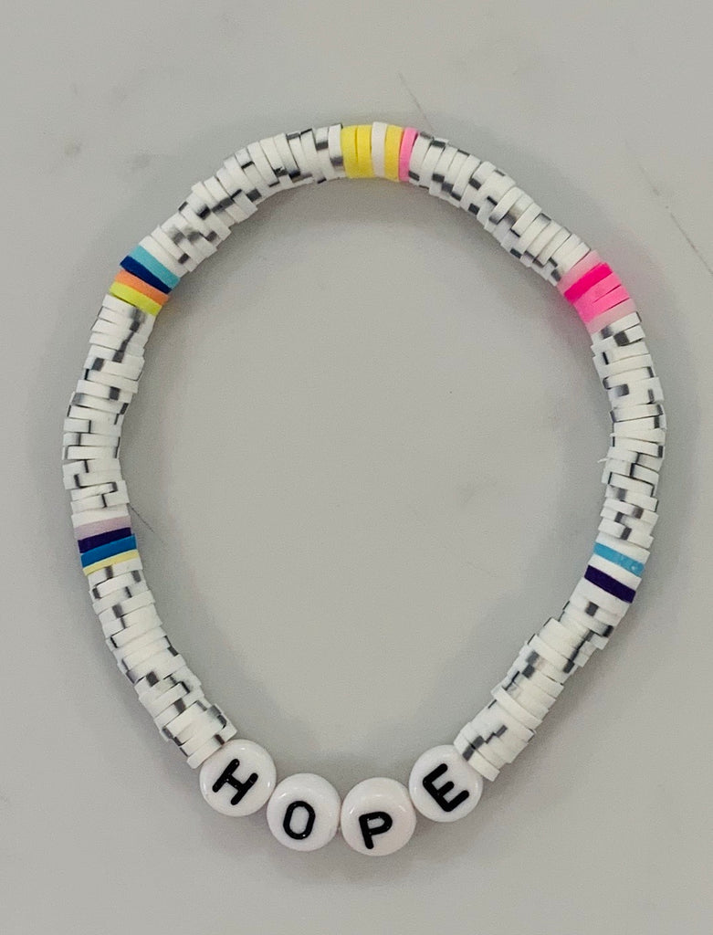 Hope rainbow beaded bracelet (2 colors)