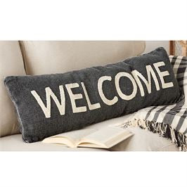 MudPie Welcome pillow