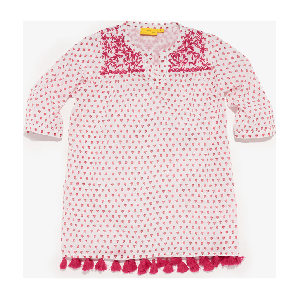 Girls serafina tunic- hearts