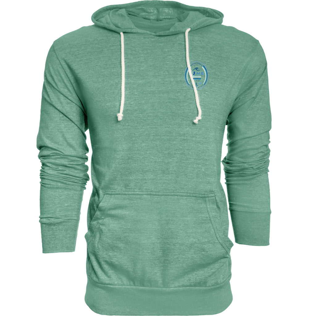 Men's time stamp home hooded tee