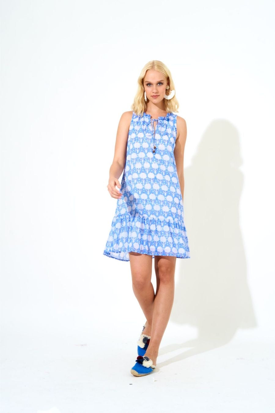 Ruffle Hem dress- kerachi