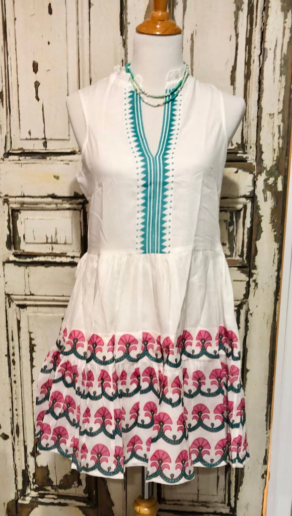 Yoke dress-green Holland