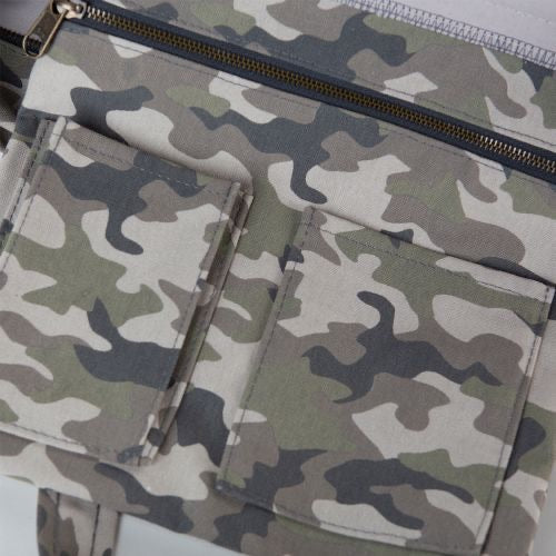 Canvas boat tote- all over camo