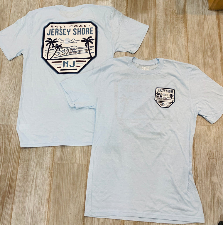Blue 84 Jersey shore badge tee