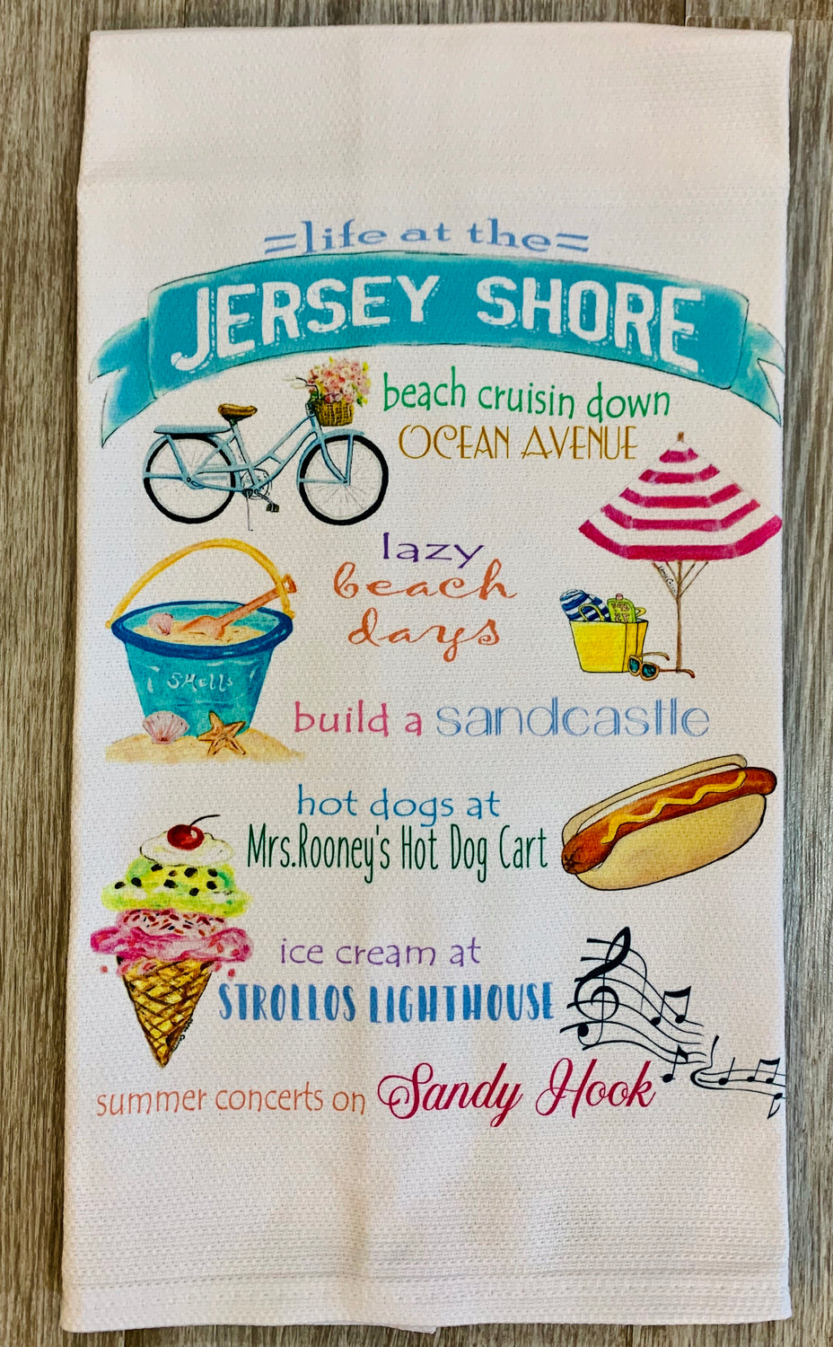 Life at the jersey shore Kitchen dish towel