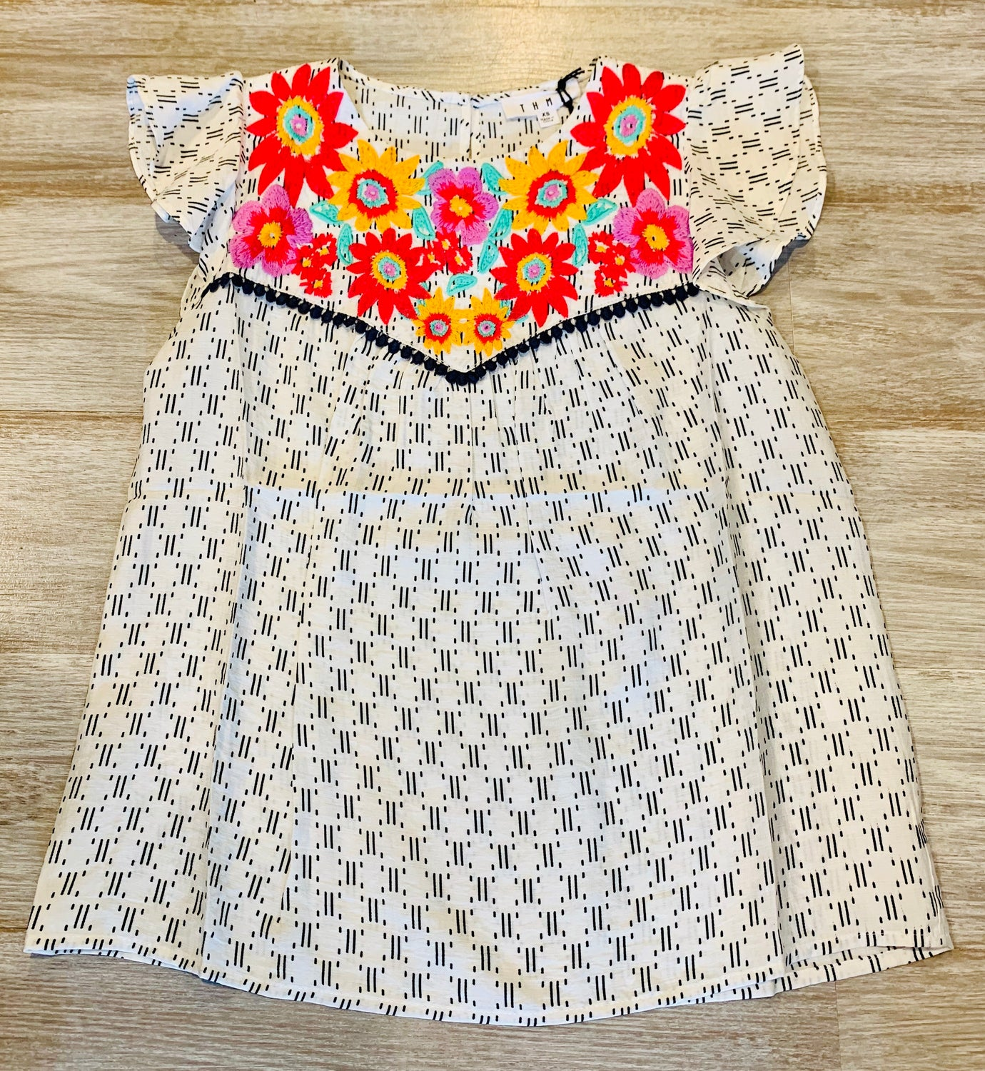 Thml flower placket blouse